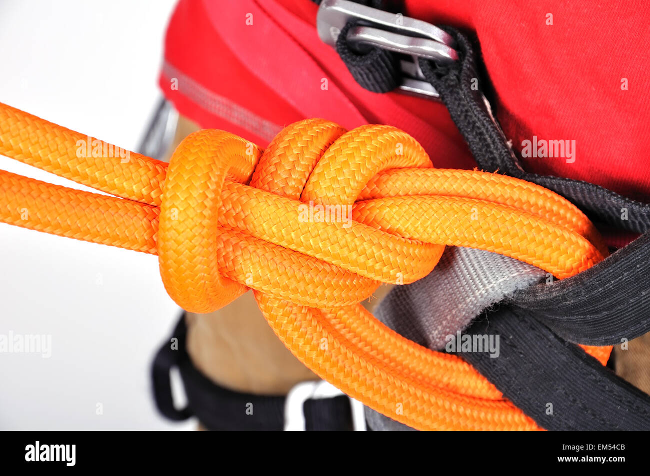 Double Bowline Stock Photos Images Alamy Water Knot How To Tie A Boating Knots Close Up Image