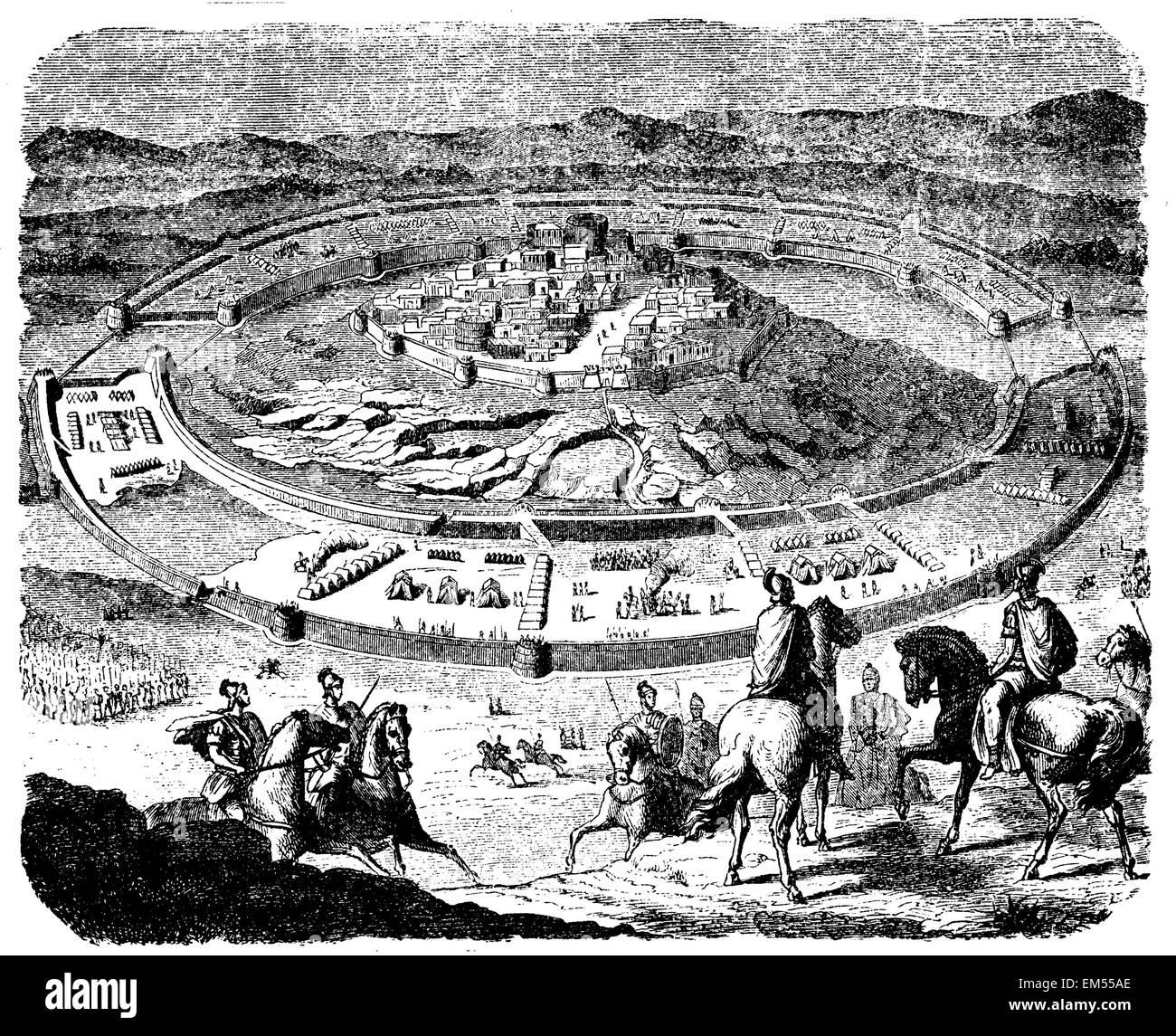siege of Numancia by Scipio - Stock Image