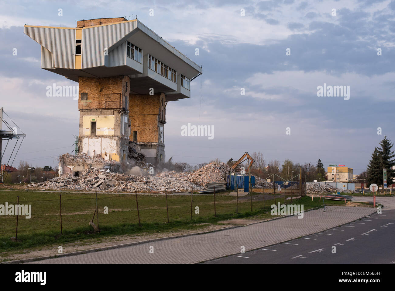 Building Blowing Up : Lubin poland th april blowing up the old