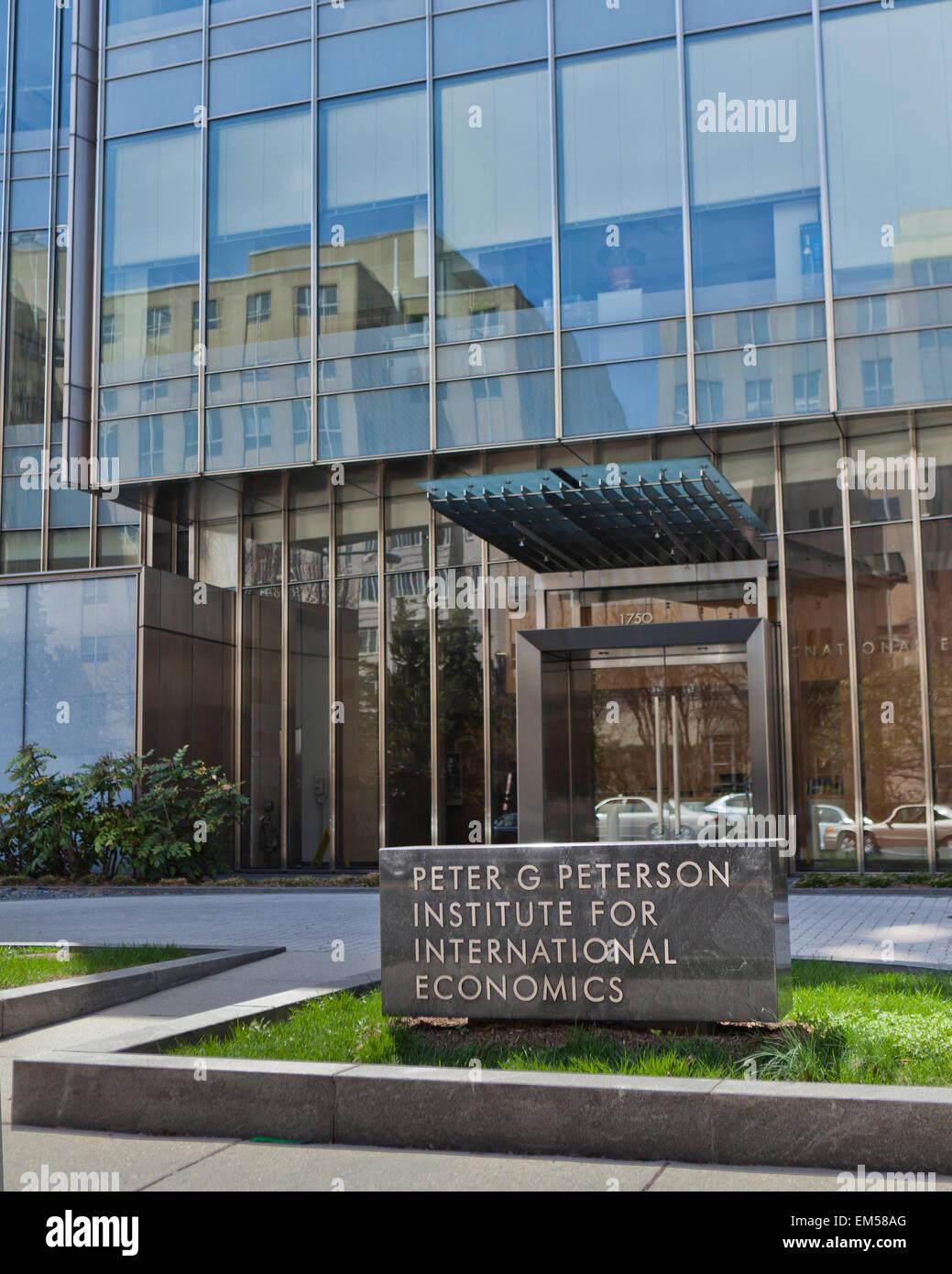 Institute for International Economics - Washington, DC USA - Stock Image