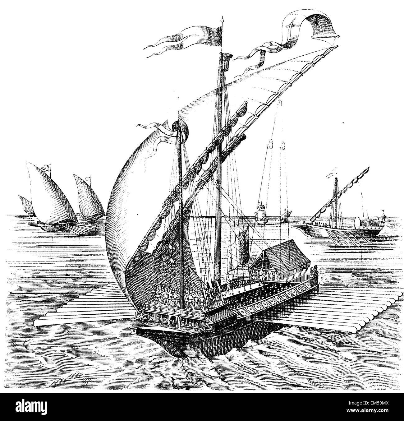 Venetian galley - Stock Image