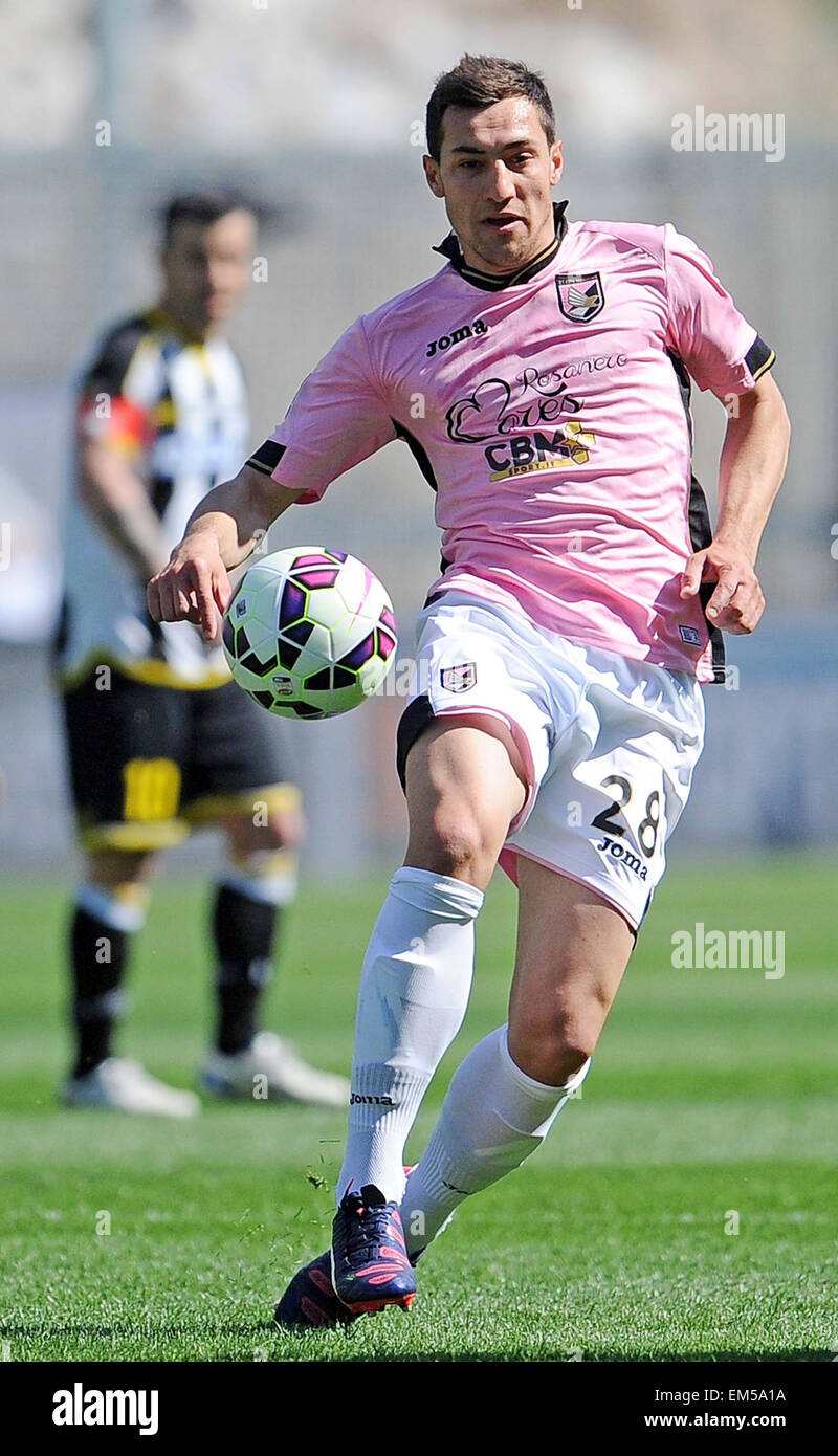 Palermo's midfielder Jajalo passes the ball during the Italian Serie A football match between Udinese and Palermo - Stock Image