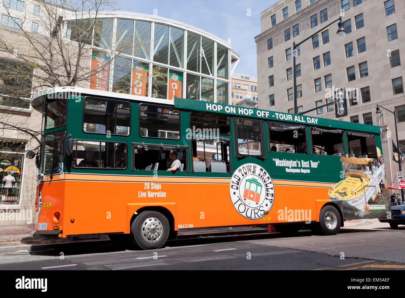 Washington Dc Tour Bus >> Old Town Trolley Sightseeing Tour Bus Washington Dc Usa Stock