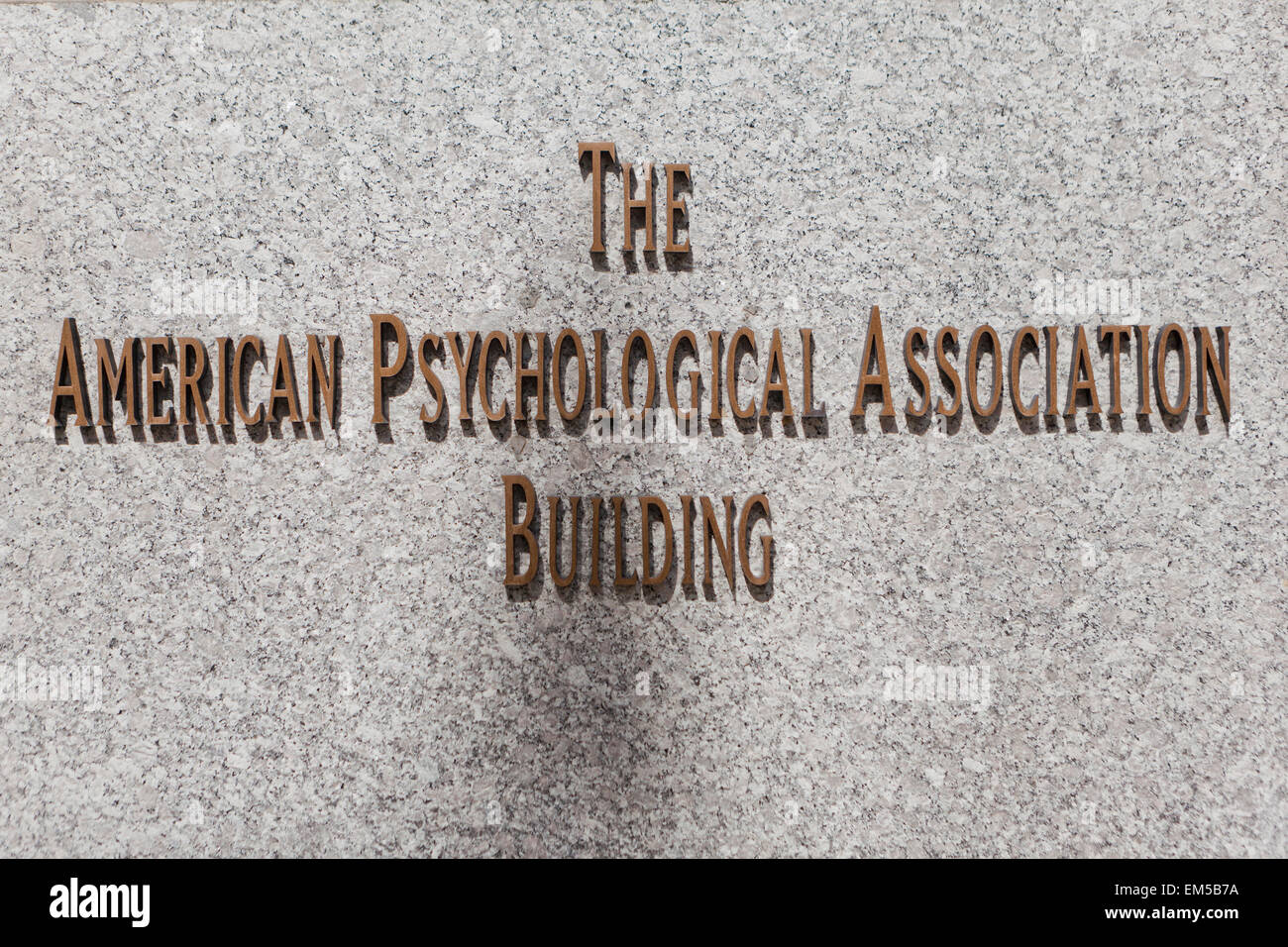 The American Psychological Association - Washington, DC USA - Stock Image