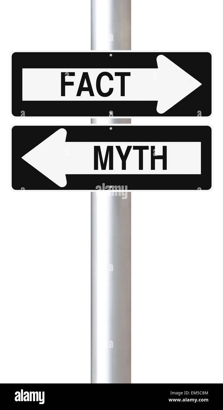 Fact or Myth - Stock Image