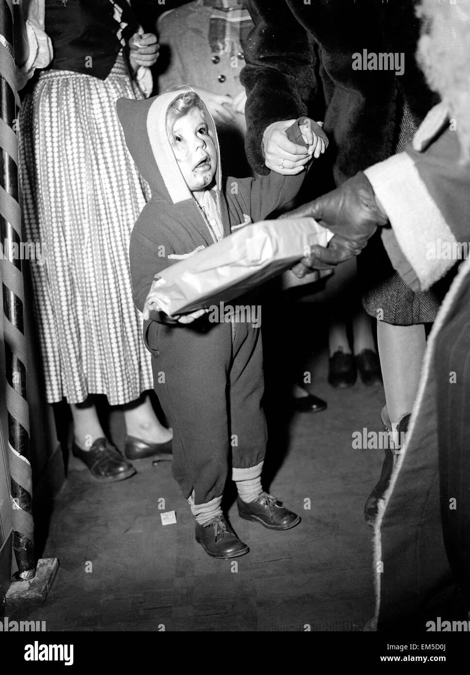 Father Christmas at Selfridges. 9th December 1949. Stock Photo
