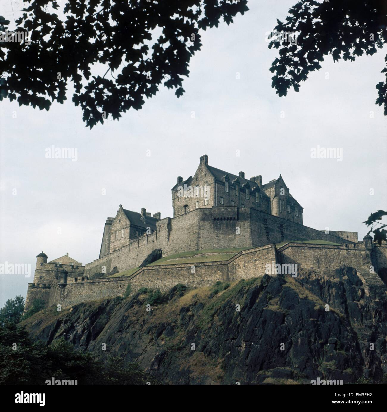 Edinburgh Castle, Scotland circa 1975 - Stock Image