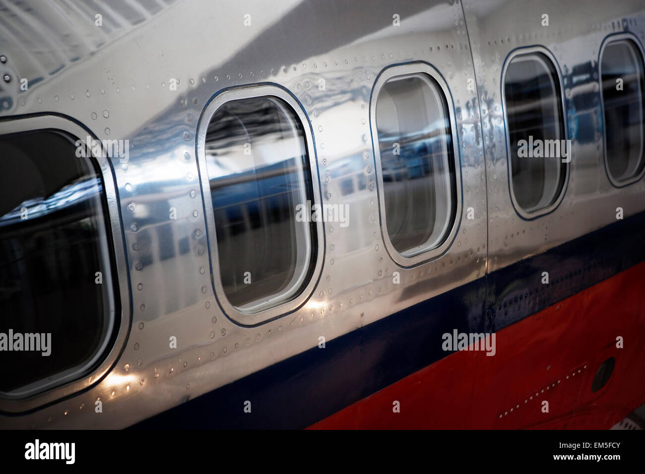 Airplane fuselage. - Stock Image