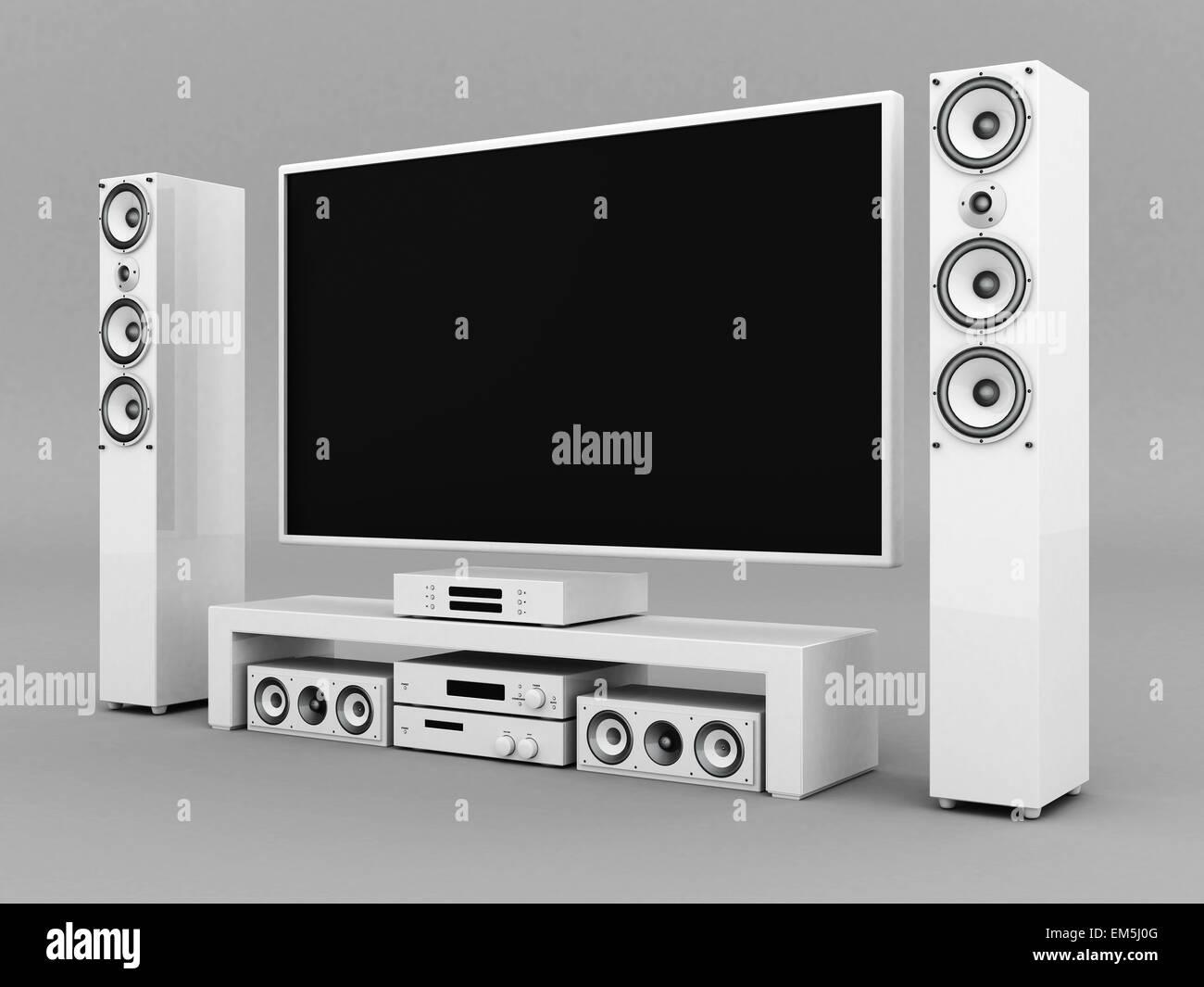 Modern Home Theater Stock Photo Alamy