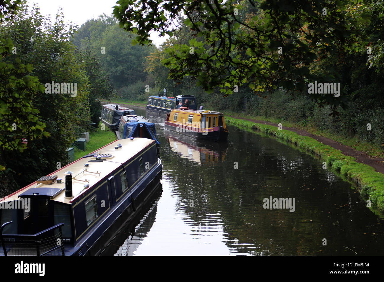 The Staffordshire and Worcestershire Canal Stock Photo