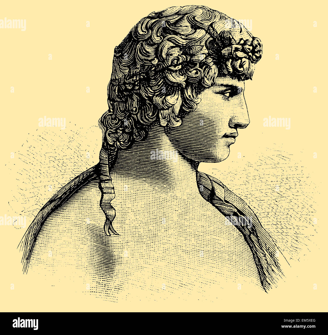 Antinous, Antinoos (born c. November 27,[1] 111, died October 30, 130), member of the entourage of the Roman Emperor - Stock Image