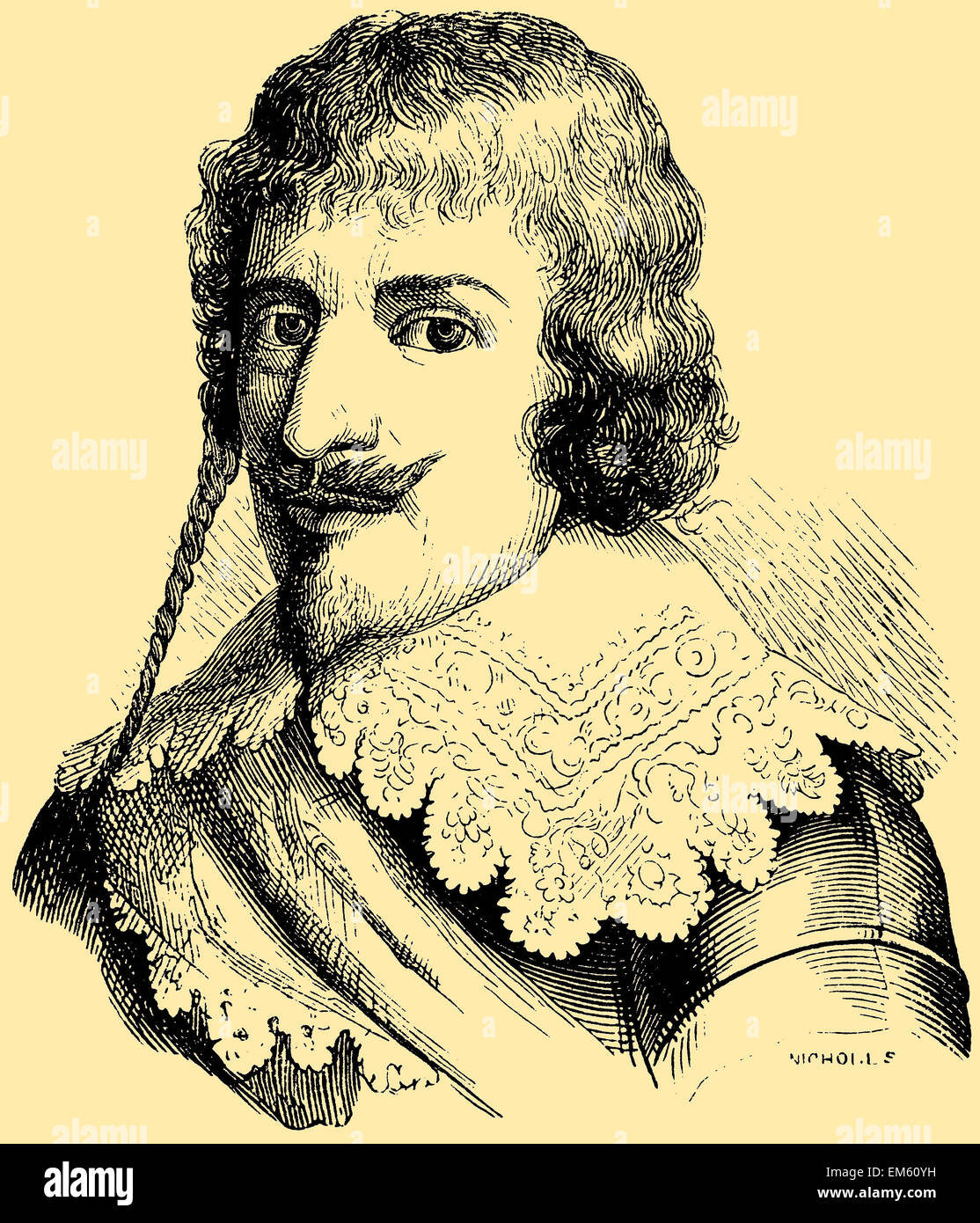 Christian IV (1577 – 1648), king of Denmark-Norway Stock Photo