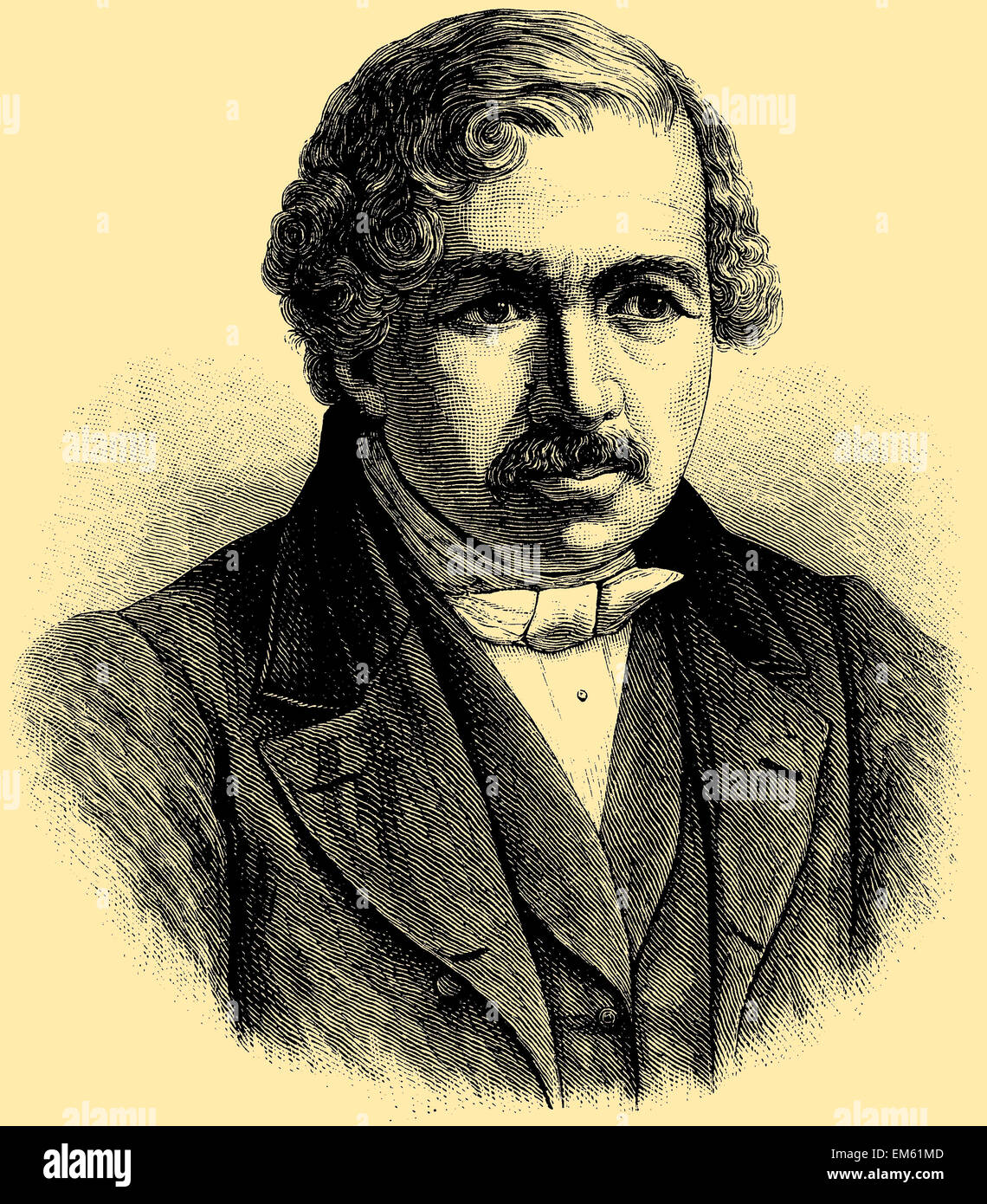 Louis-Jacques-Mandé Daguerre (1787 – 1851), French artist and chemist - Stock Image