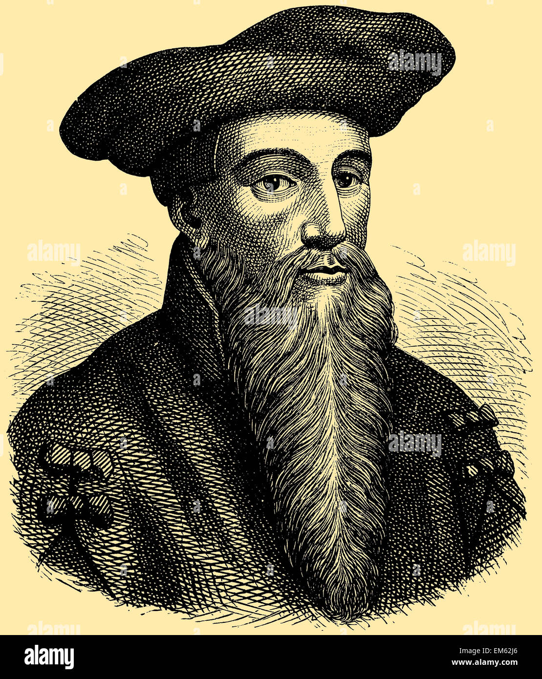 Dr. Johann Georg Faust (c. 1480 – c. 1540) - Stock Image