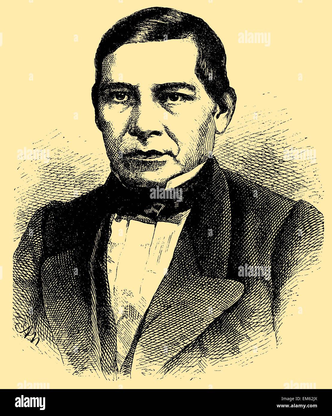 Benito Juárez (1806 – 1872), Zapotec indian and president of Mexico - Stock Image