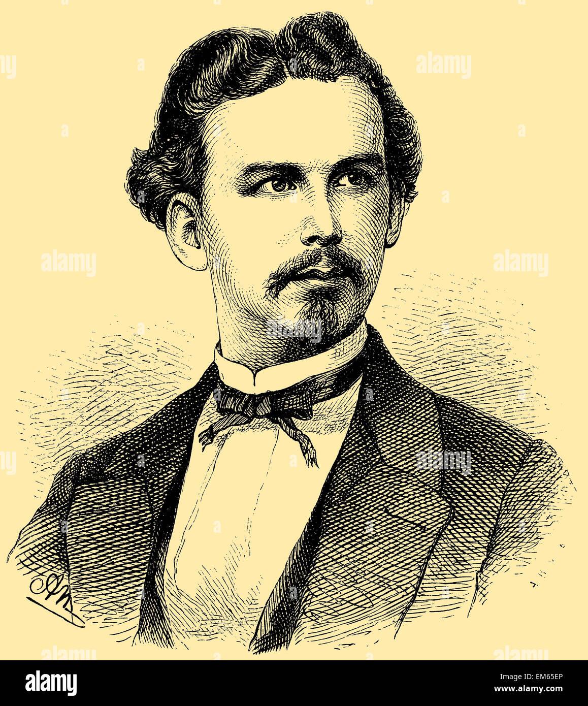 Ludwig II, King of Bavaria, Swan King (1845 . 1886) - Stock Image