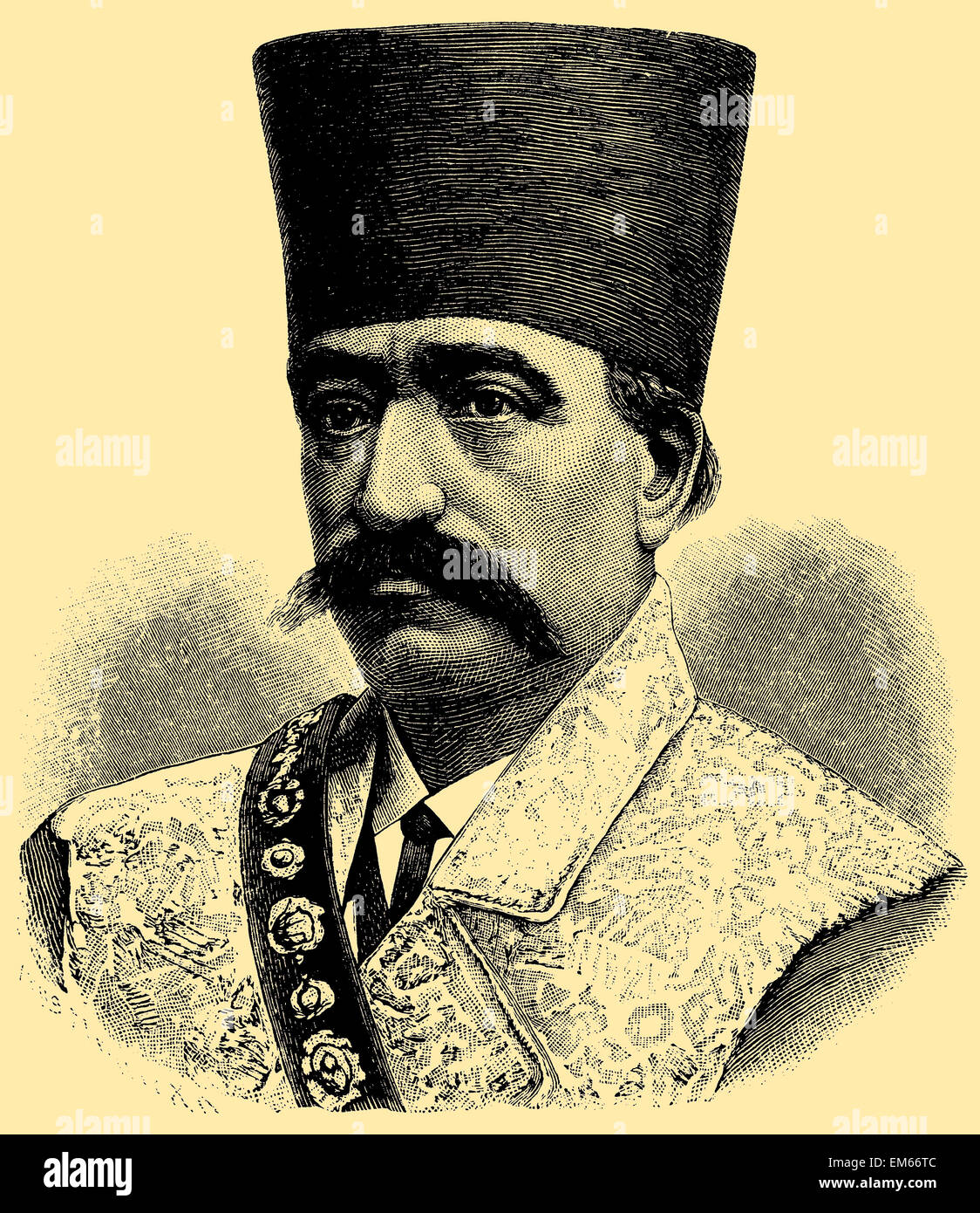 Naser al-Din Shah Qajar (1831–1896), Shah of Persia - Stock Image