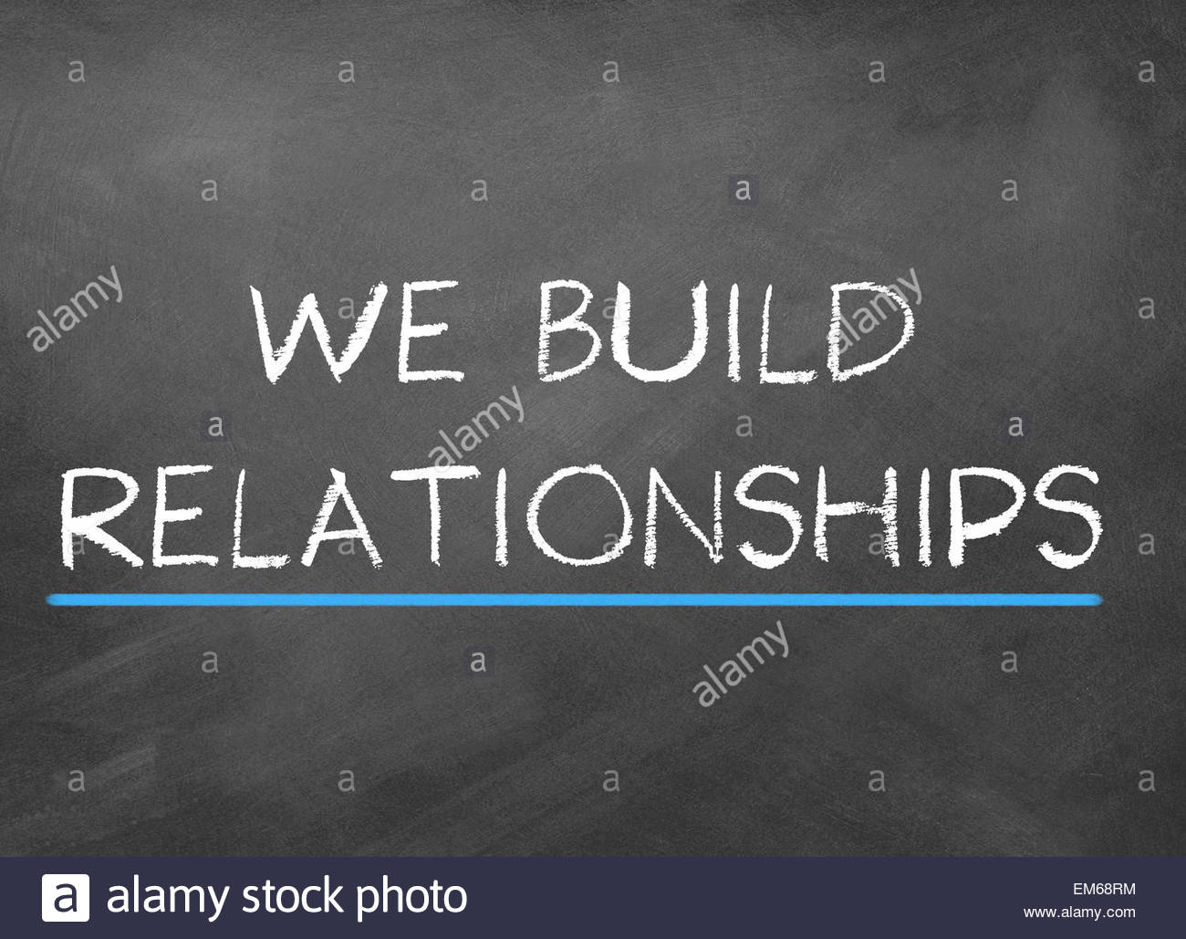 we build relationships - Stock Image