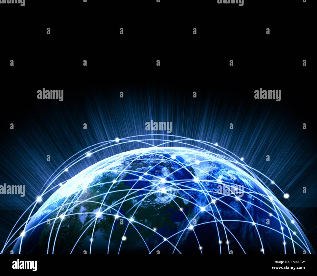 Blue image of globe - Stock Image