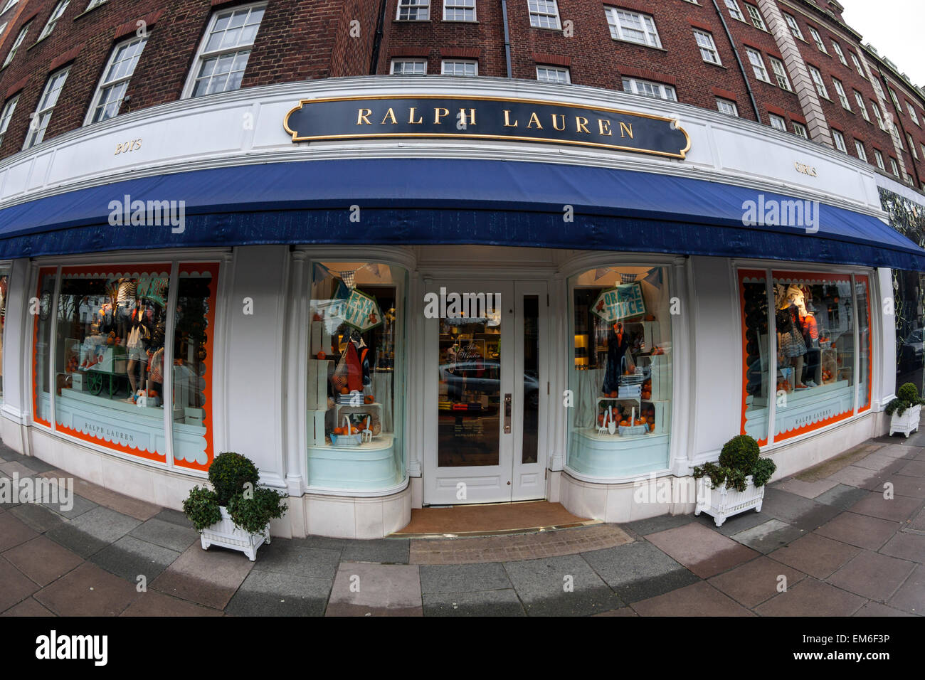 Ralph Lauren Store, Fulham Road, London - Stock Image