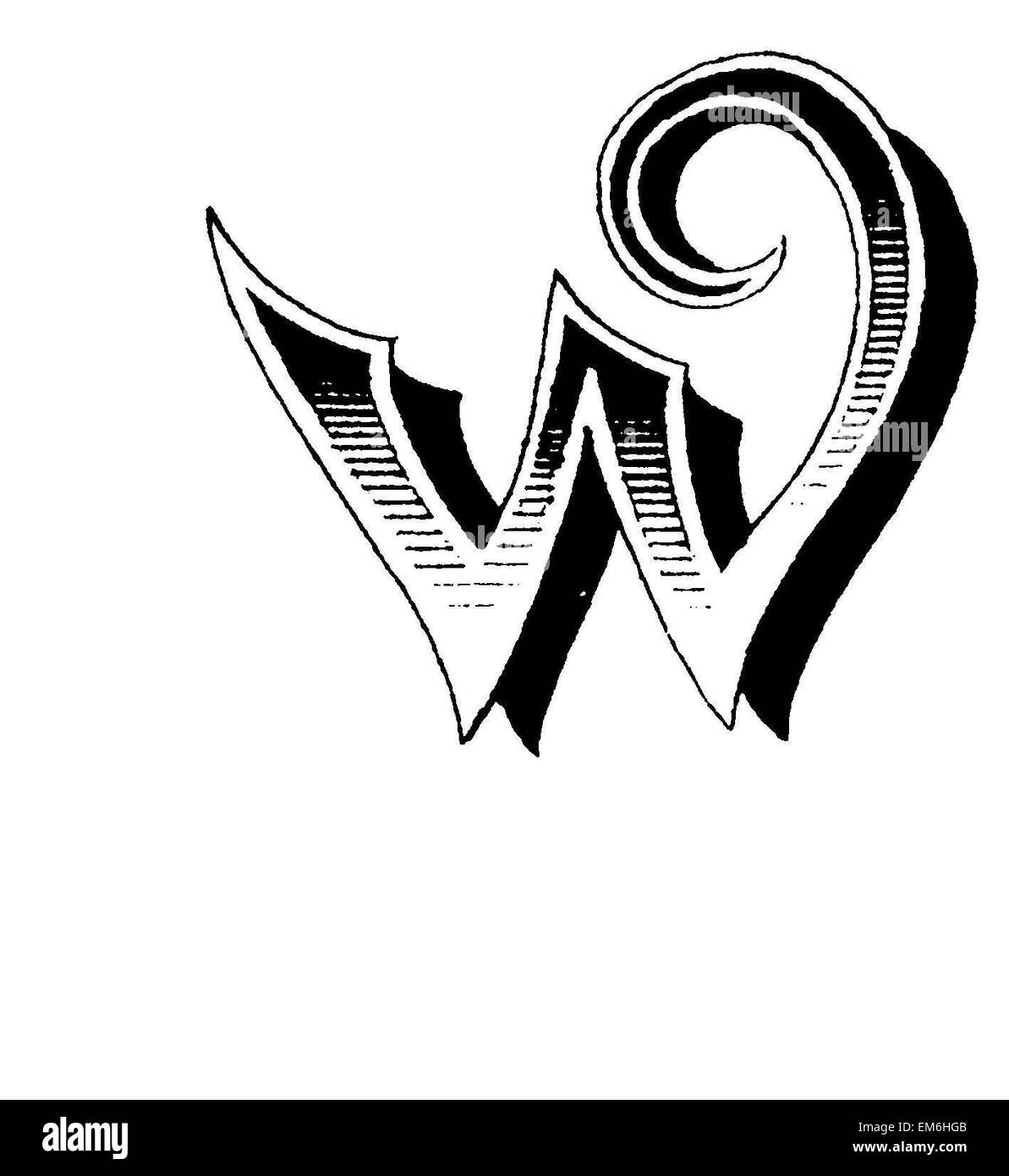 Letter W Stock Photos Letter W Stock Images Alamy