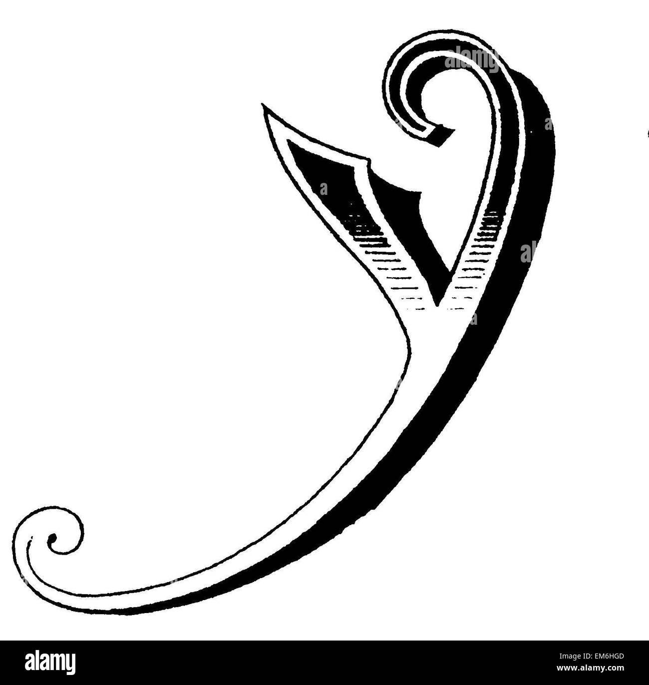Letter Y Fancy Font Stock Photo 81280093 Alamy