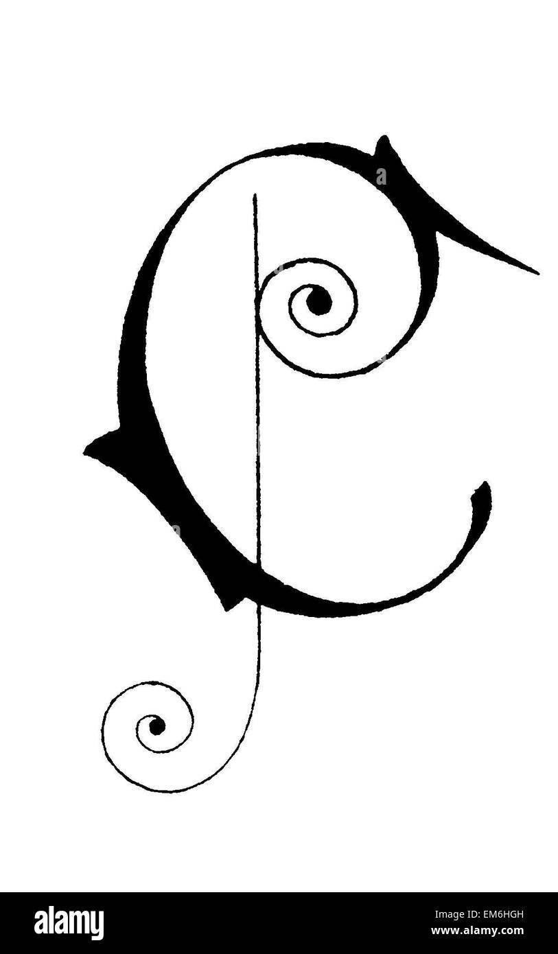 Letter C, Art Nouveau Stock Photo: 81280097   Alamy