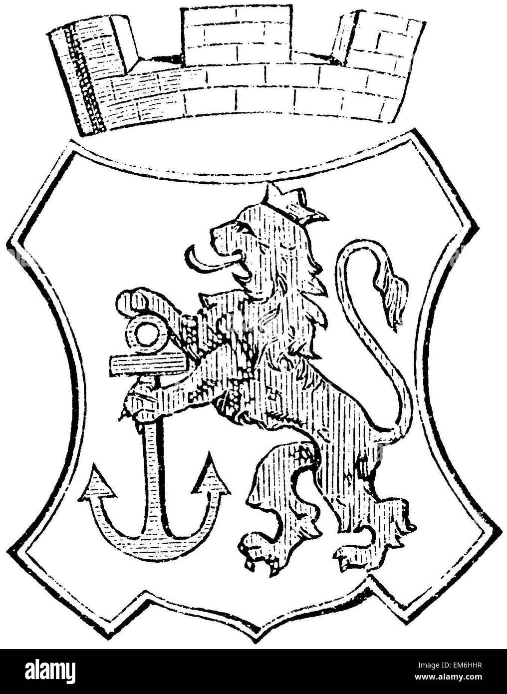 Coat Of Arms Of Dusseldorf Stock Photo 81280131 Alamy