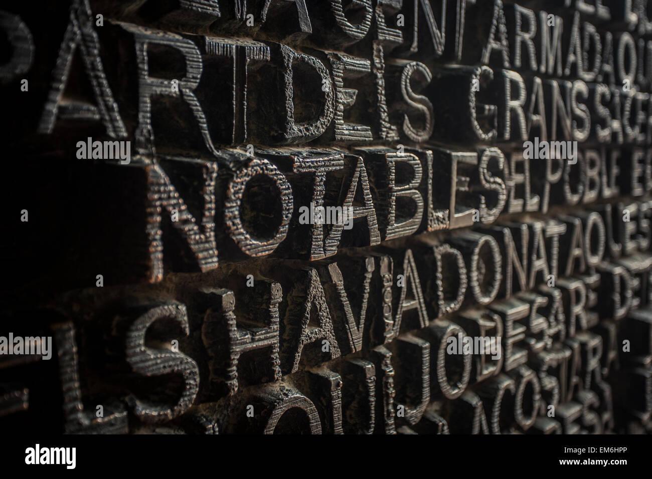 Religious typography - Stock Image