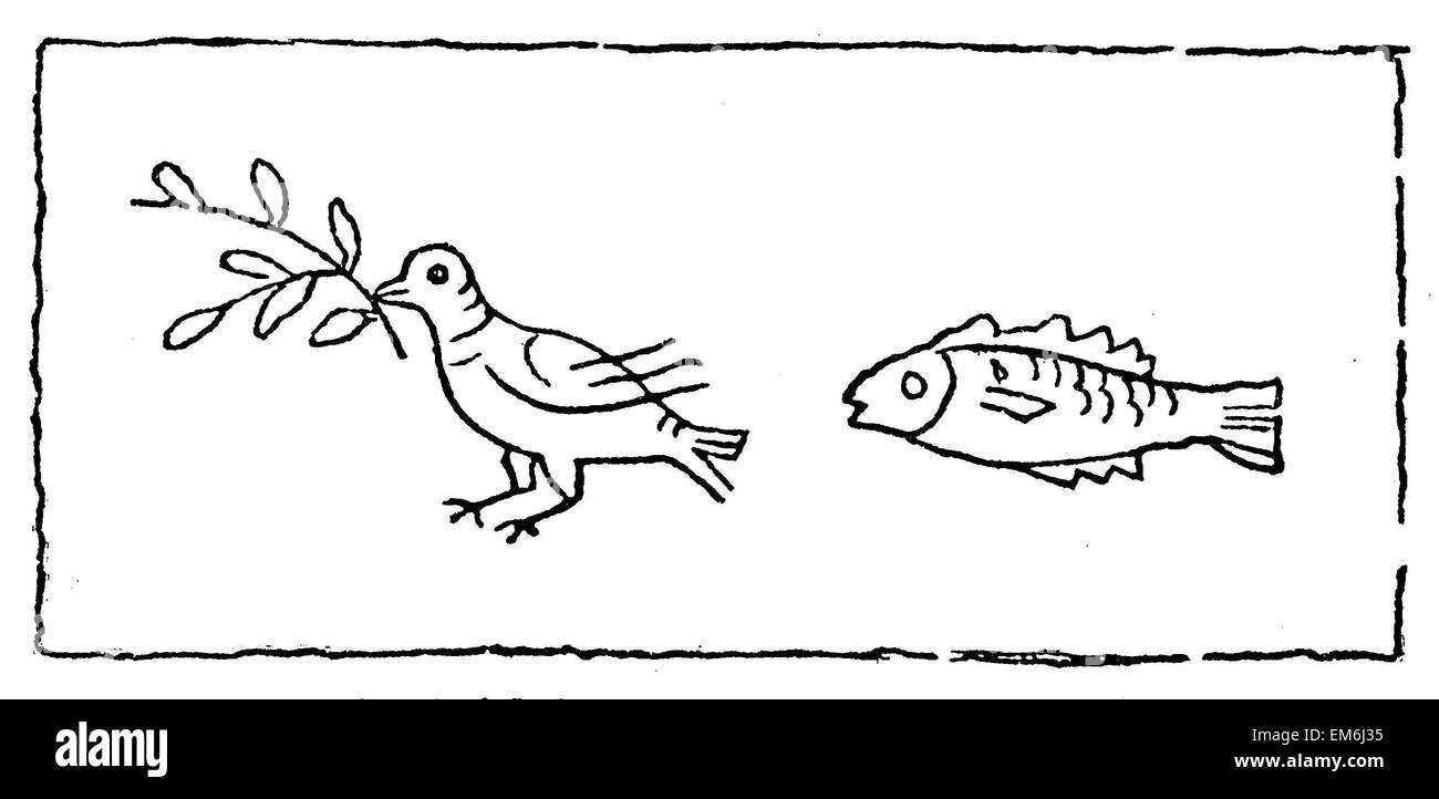 Dove And Fish As Christian Symbols Stock Photos Dove And Fish As