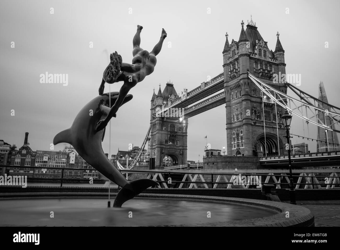 London Tower Bridge on the Thames River. It is an iconic symbol of London, United Kingdom. - Stock Image