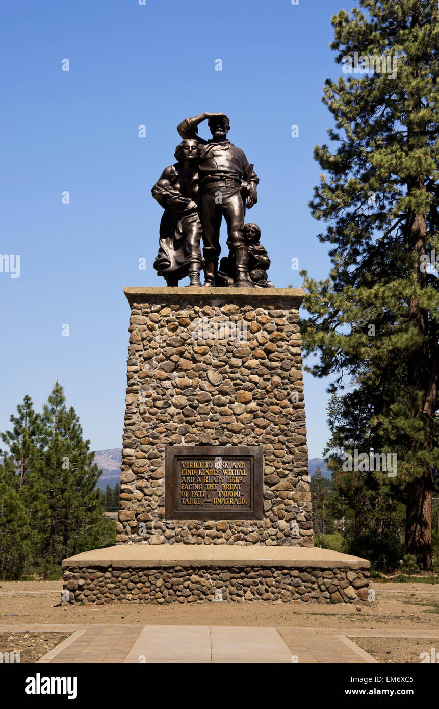 Donner Pass memorial; Truckee, California, United States of America - Stock Image