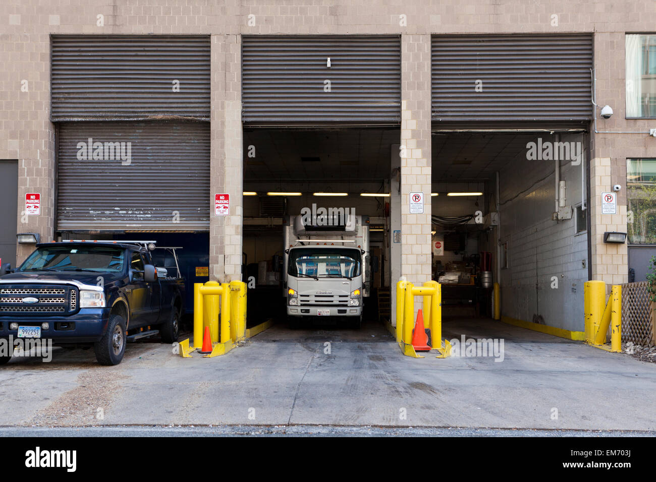 Loading dock of building - USA - Stock Image