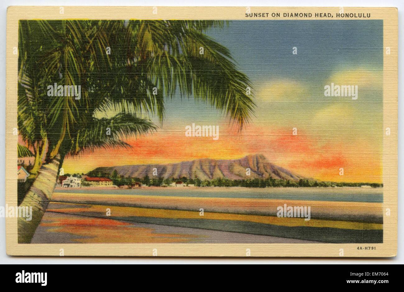 Vintage Postcard Of Hawaii