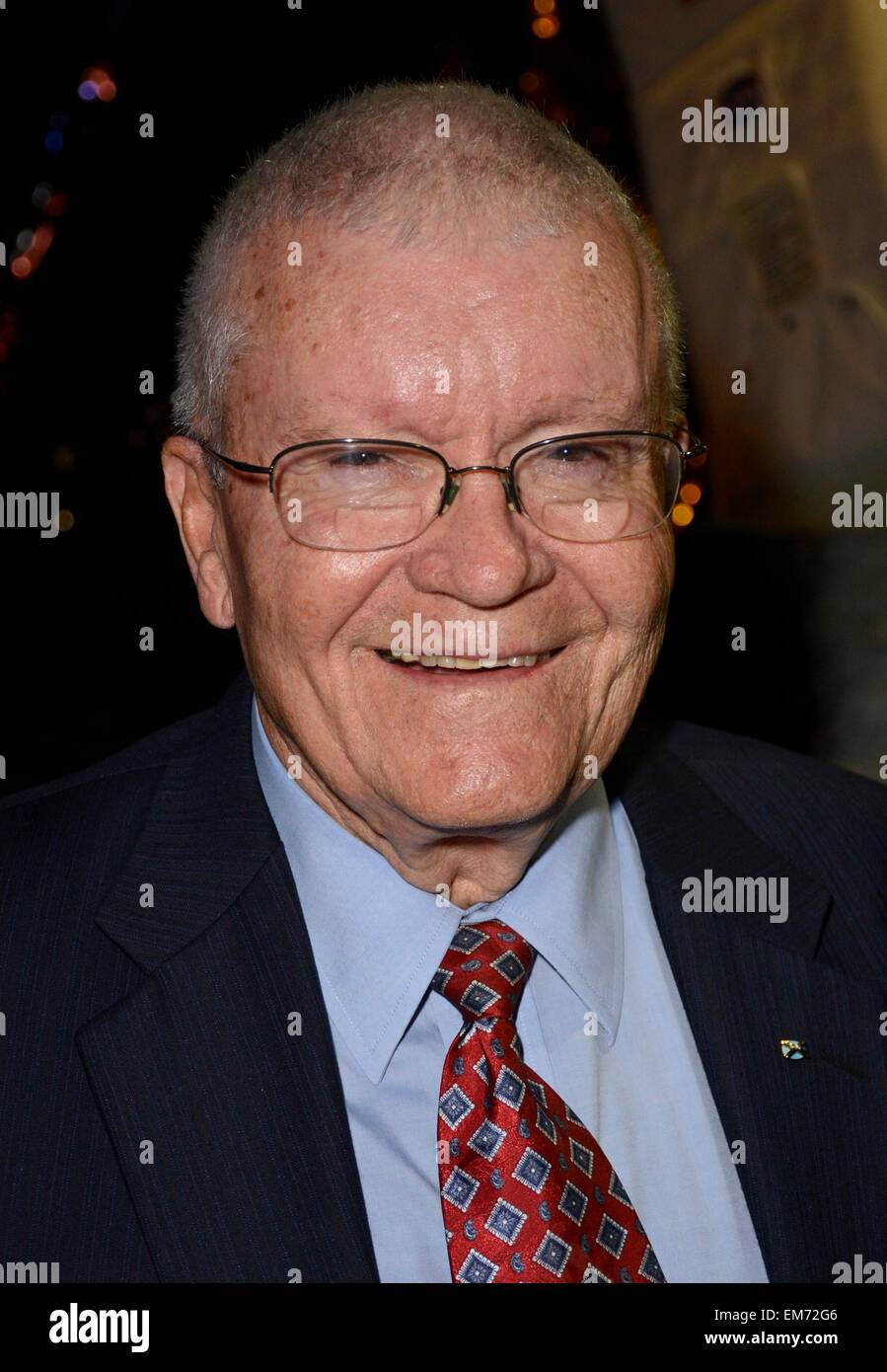 Garden City, NY, USA. 16th Apr, 2015. Fred Haise in attendance for Apollo 13 45th Anniversary Reunion Celebration, - Stock Image