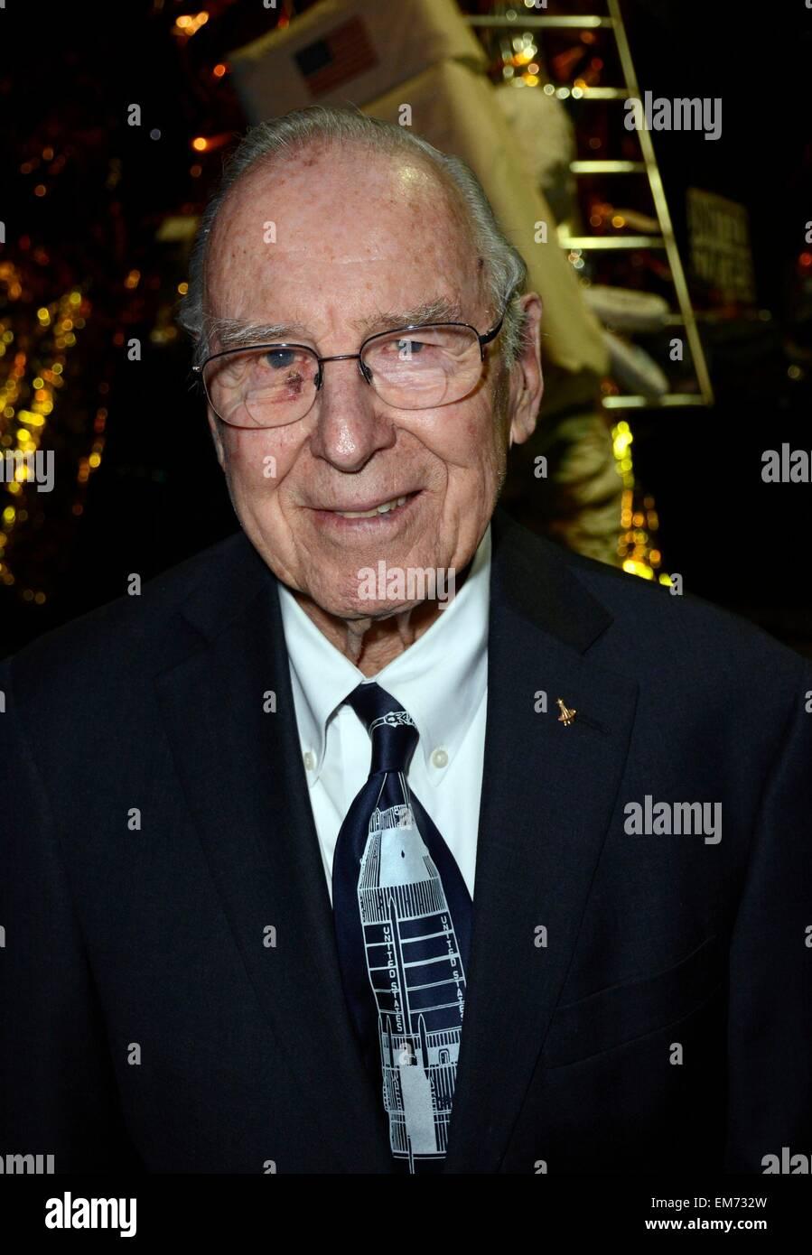Garden City, NY, USA. 16th Apr, 2015. Jim Lovell in attendance for Apollo 13 45th Anniversary Reunion Celebration, - Stock Image
