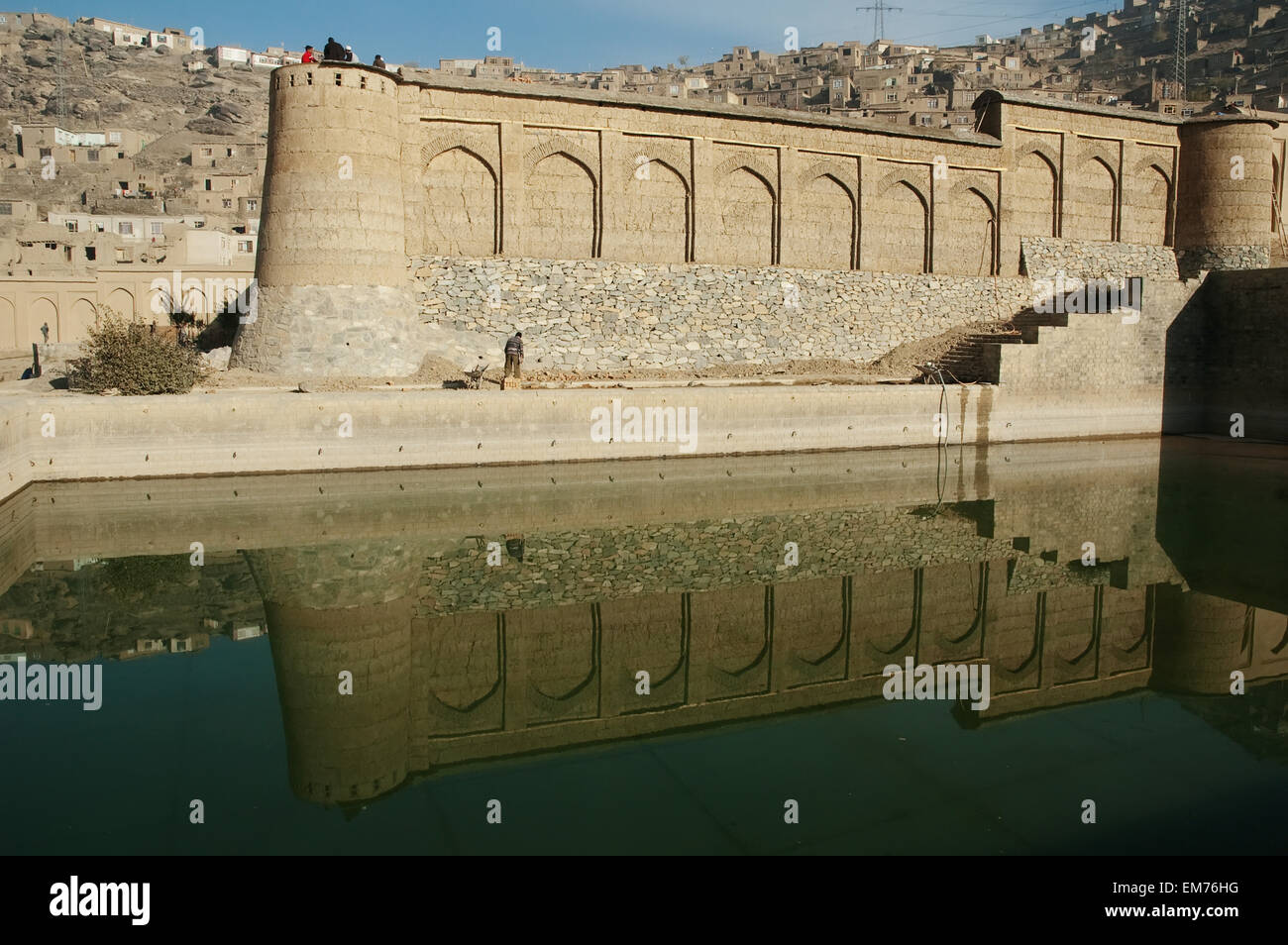 Northern Garden Walls And Upper Swimming Pool At Bagh-I-Babur Shah ...