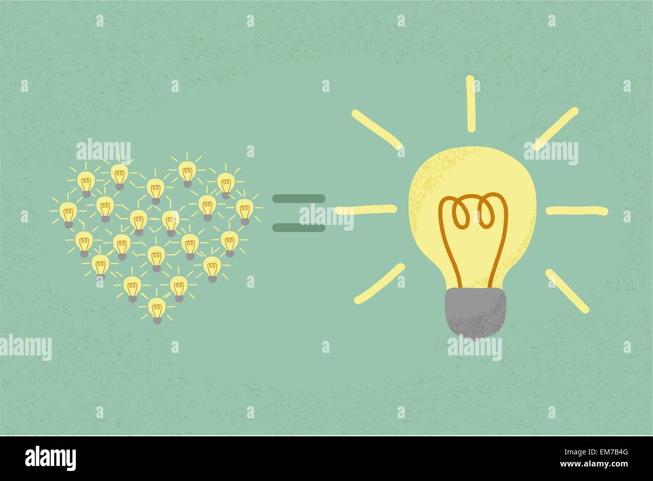 Many small ideas equal a big one idea , eps10 vector format Stock Vector
