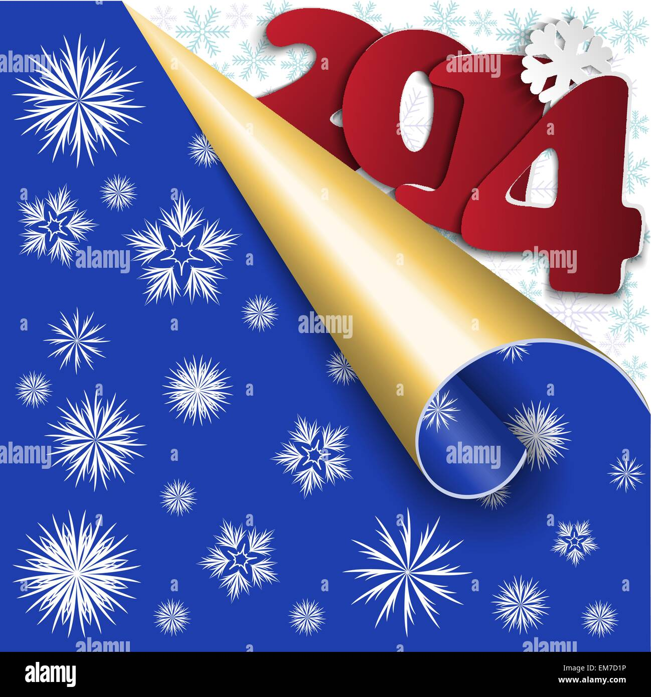 Blue New Year's background - Stock Image