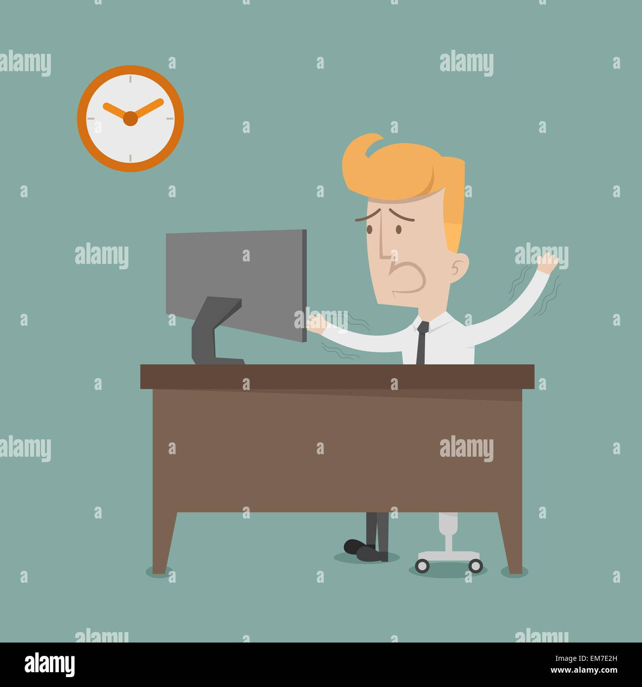 Business man urgent - Stock Image