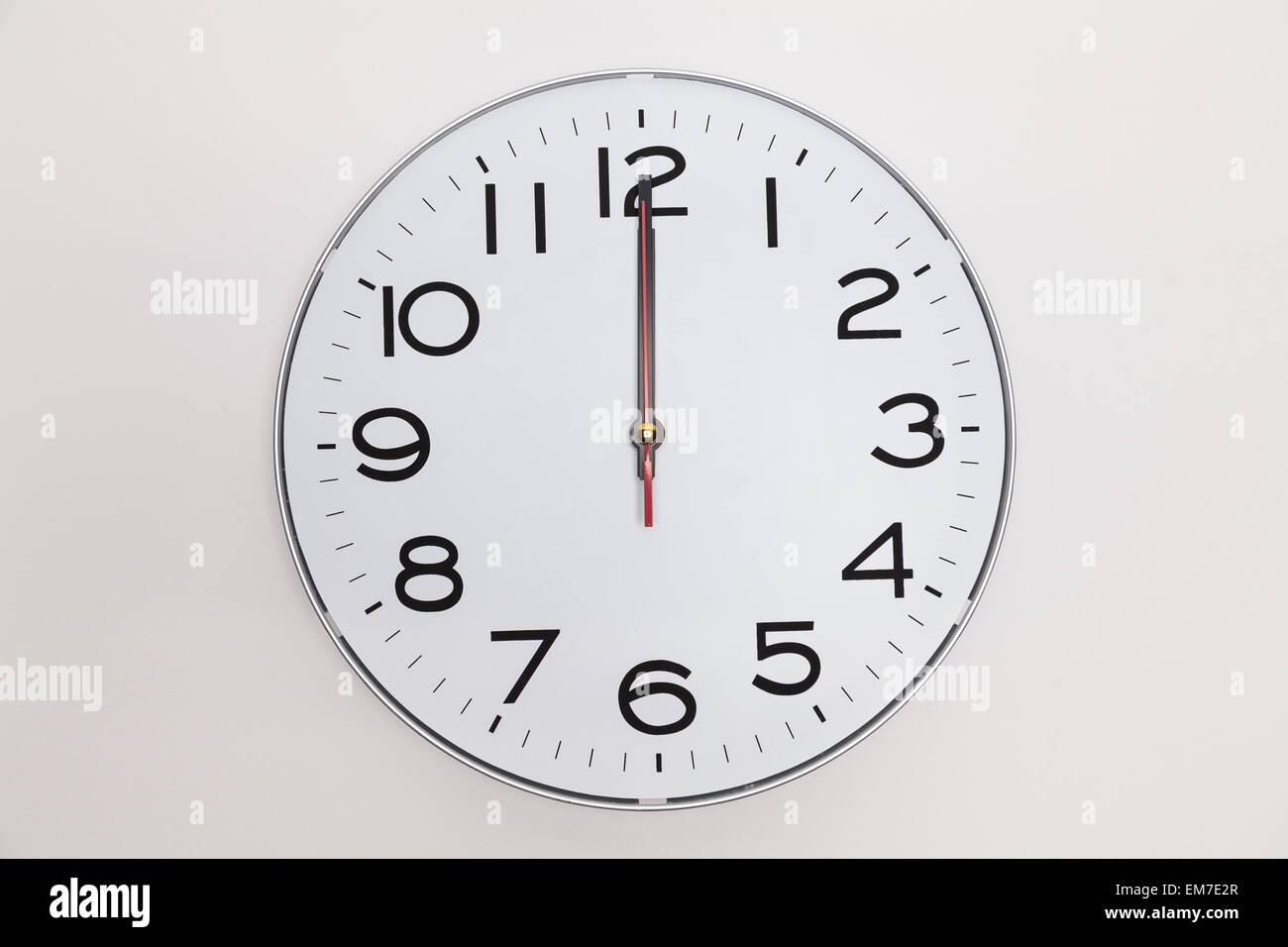 Twelve o'clock - Stock Image