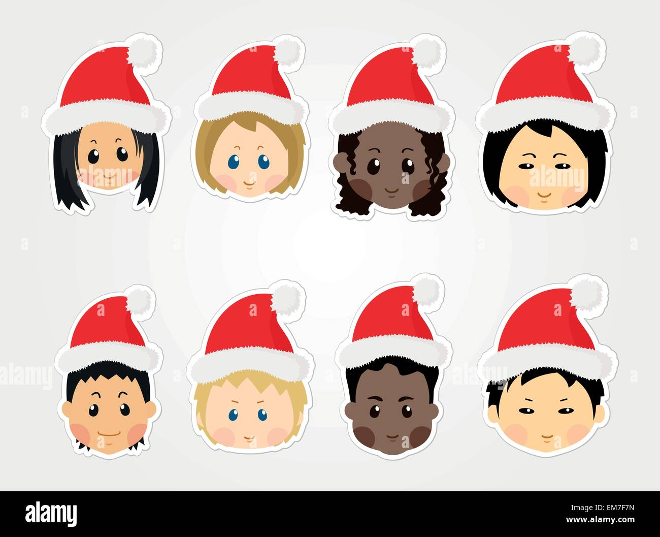 Christmas Face Painting Clip Art