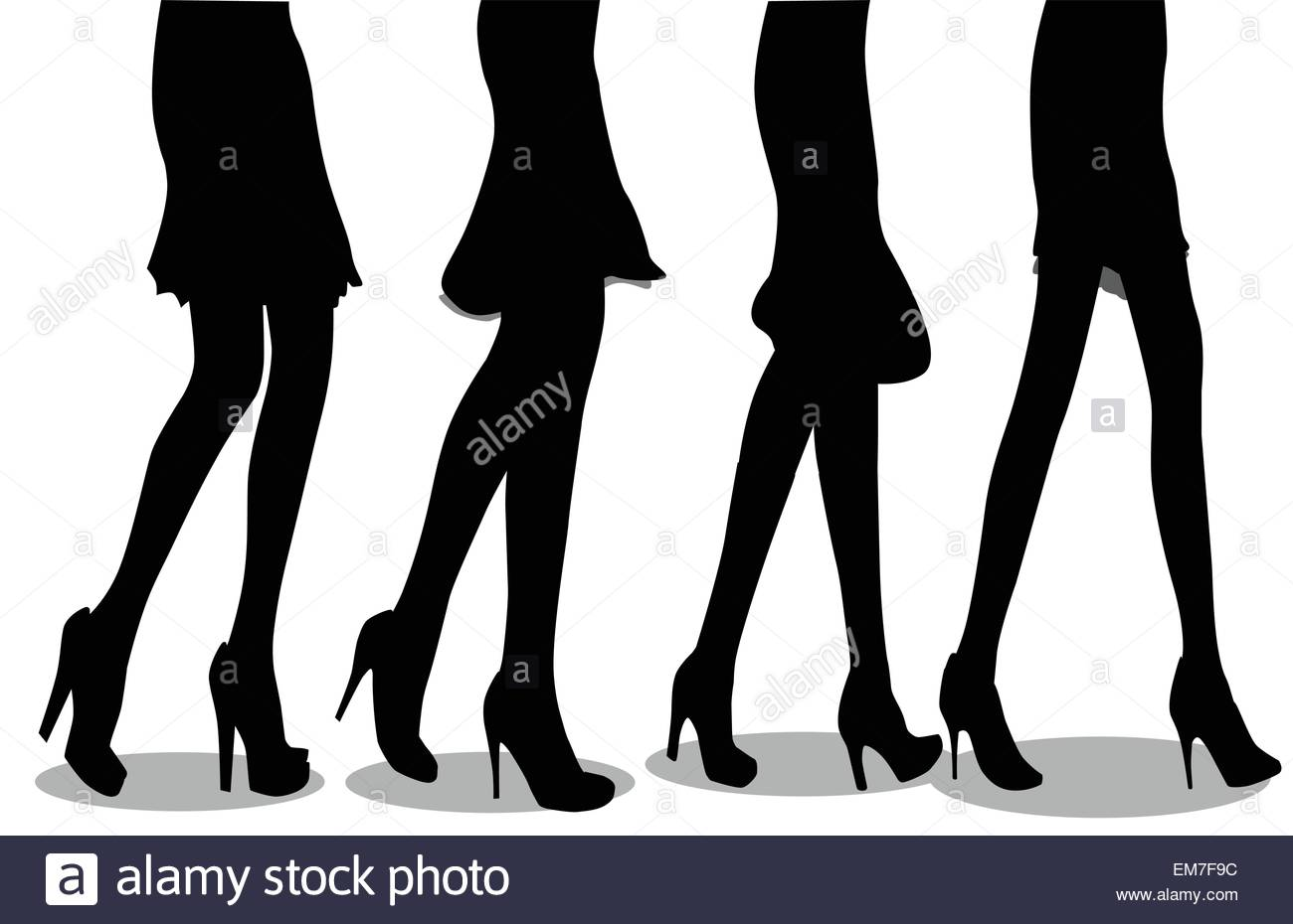 Off To The Shops - Stock Vector