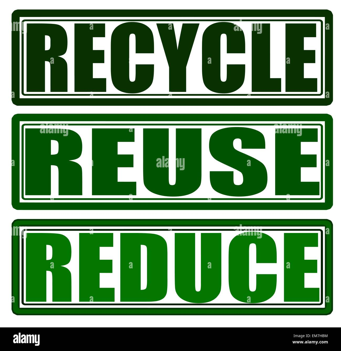 Recycle Reuse Reduce - Stock Image