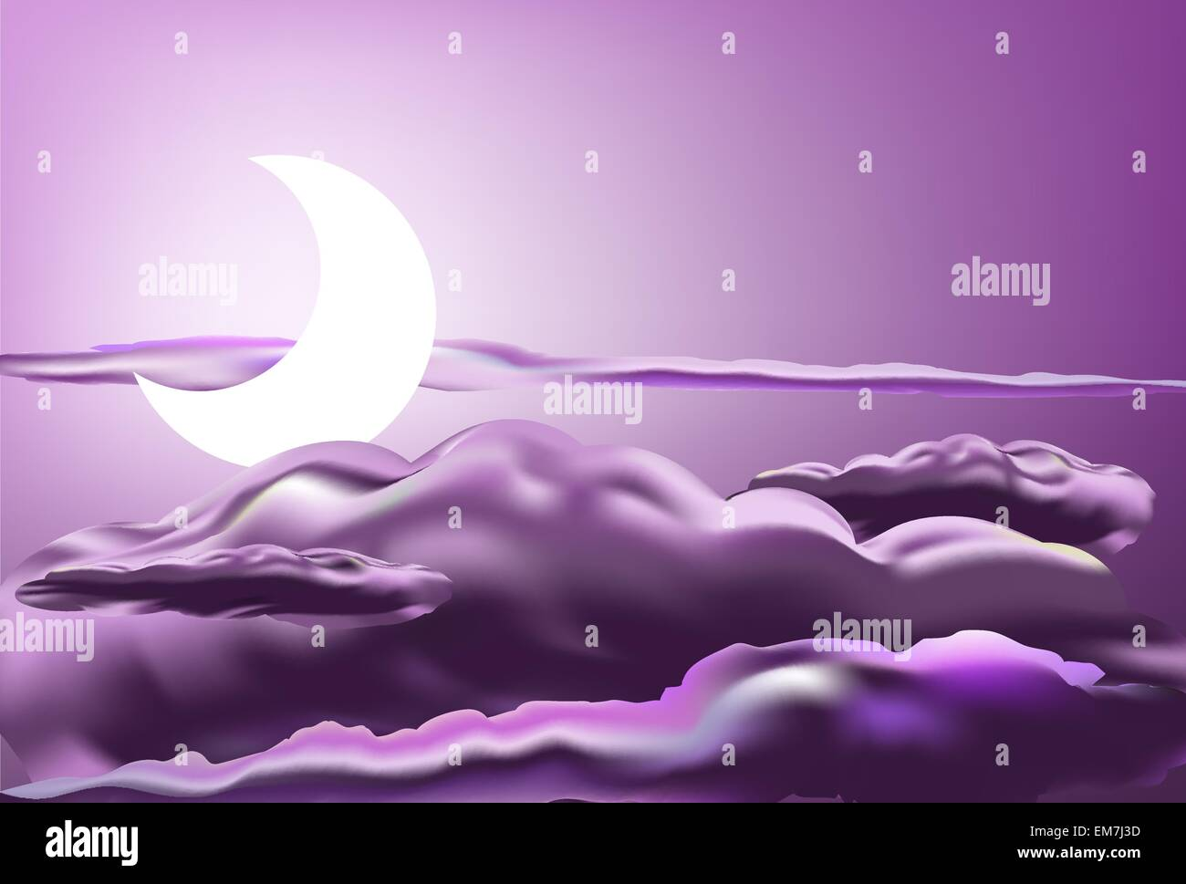 pink moon - Stock Image