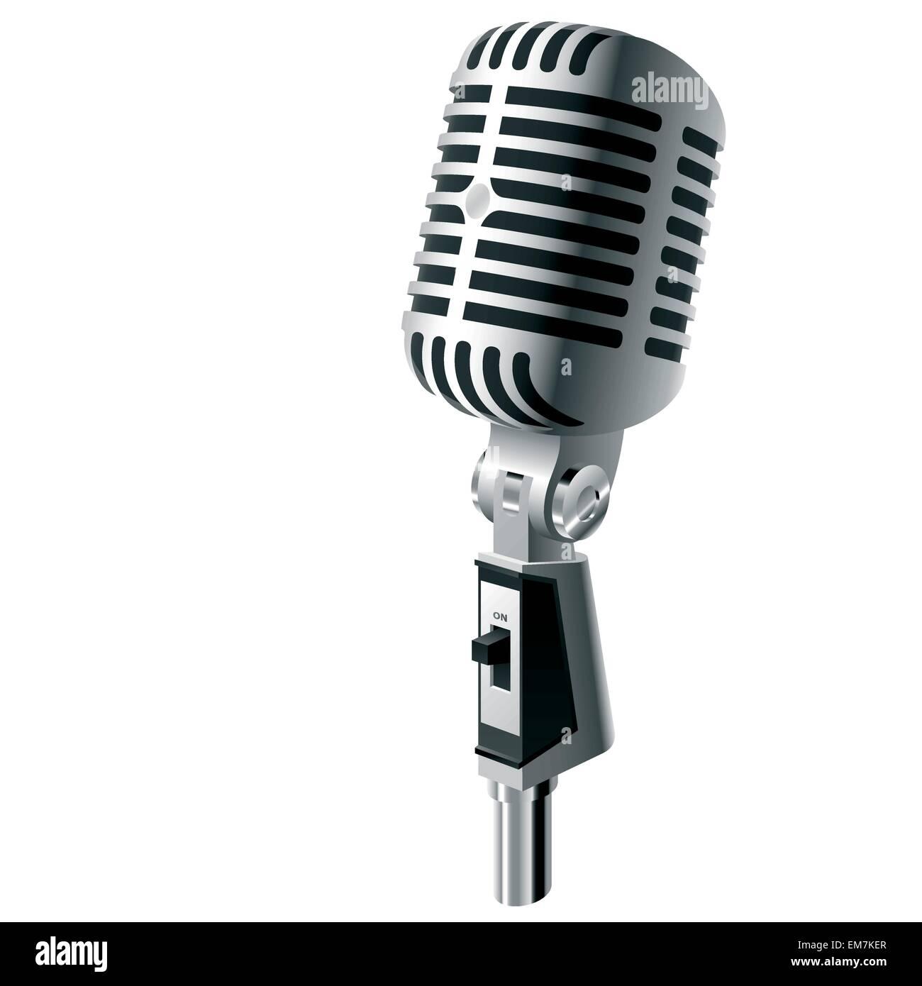 Vector microphone - Stock Vector