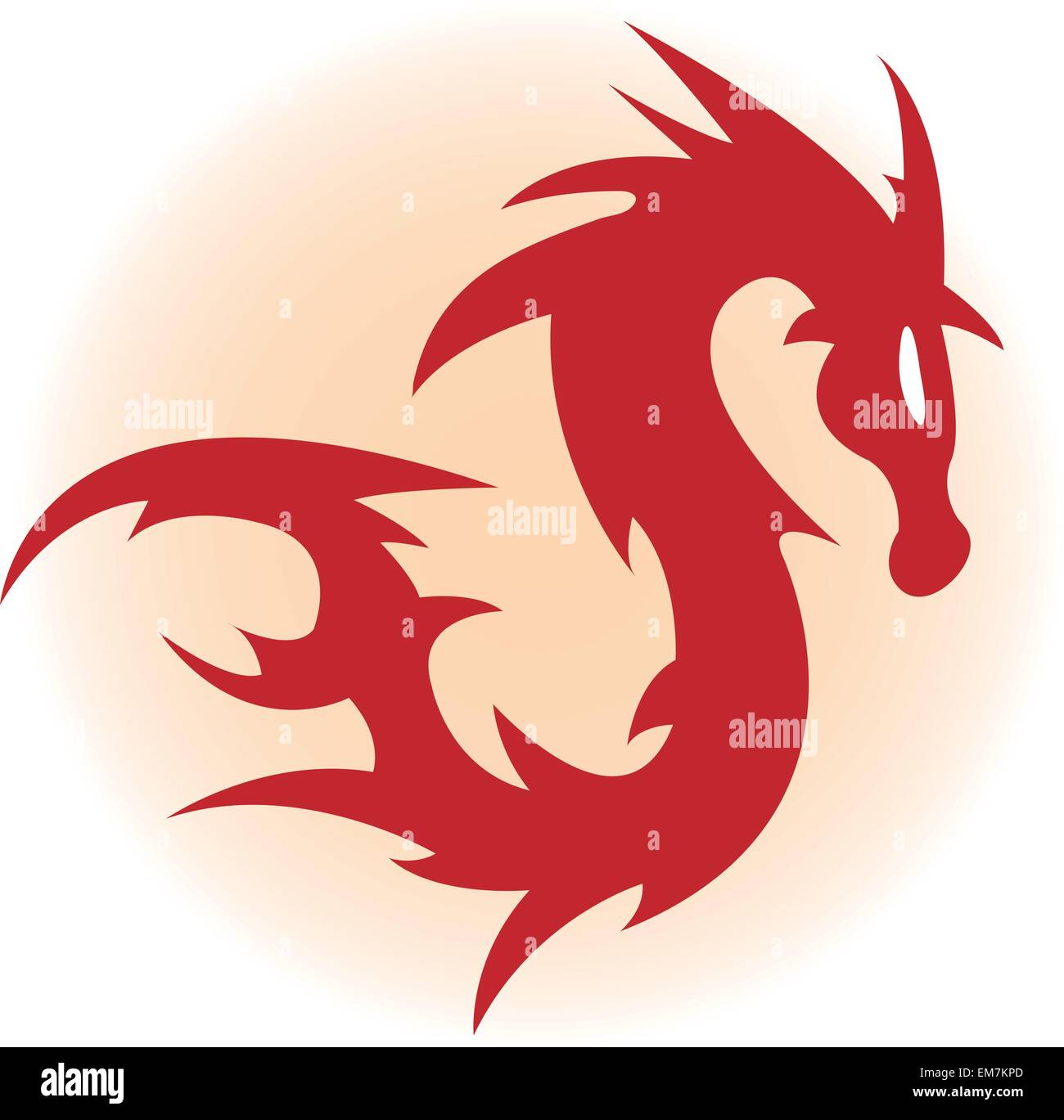 Red dragon - Stock Image