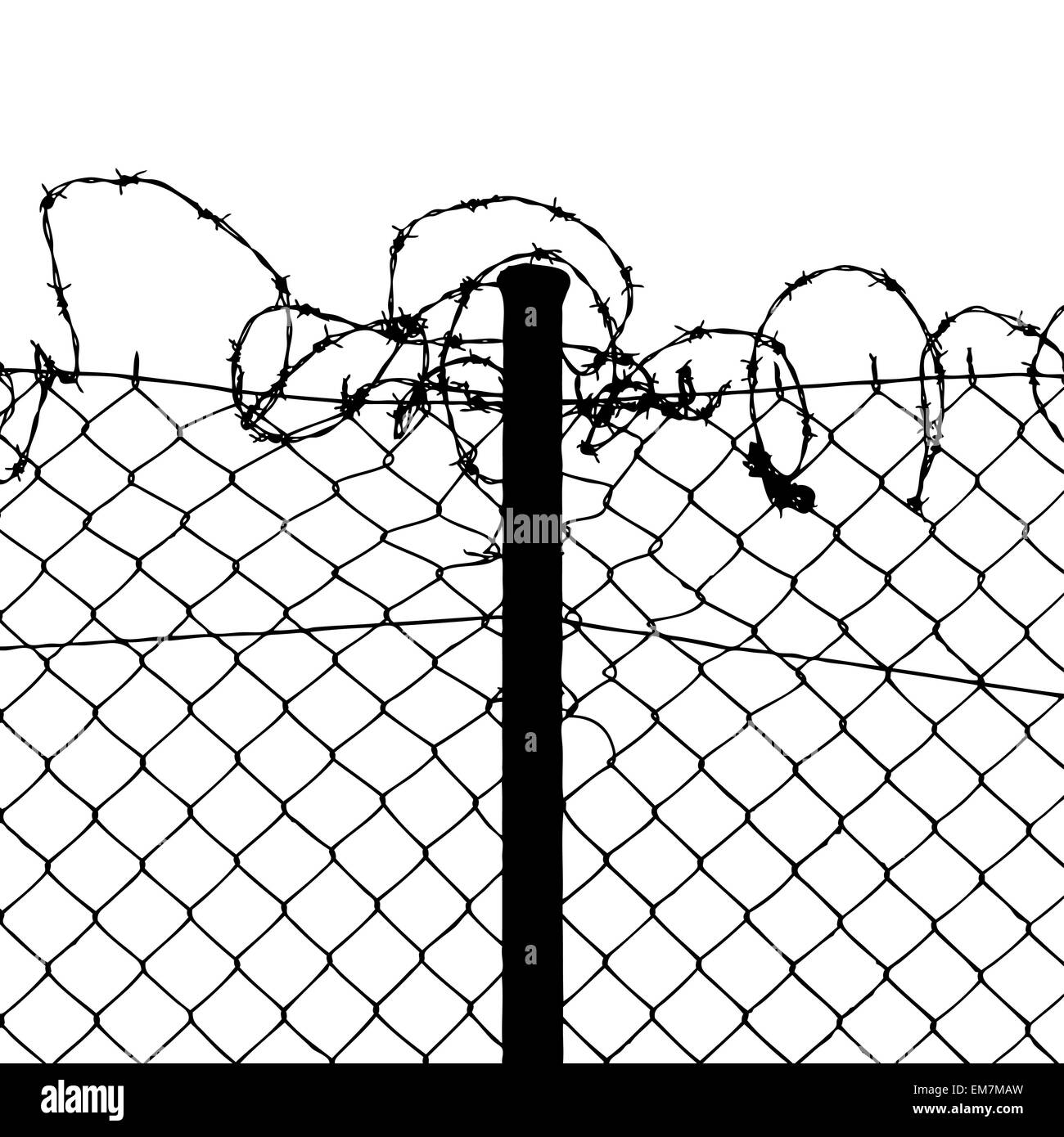 Barbed Wire Fence Stock Vector Images - Alamy