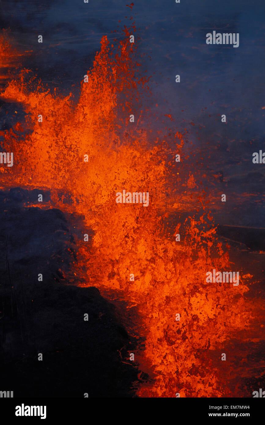 Hawaii, Big Island, Kilauea Volcano, East Rift Zone Eruption - Stock Image