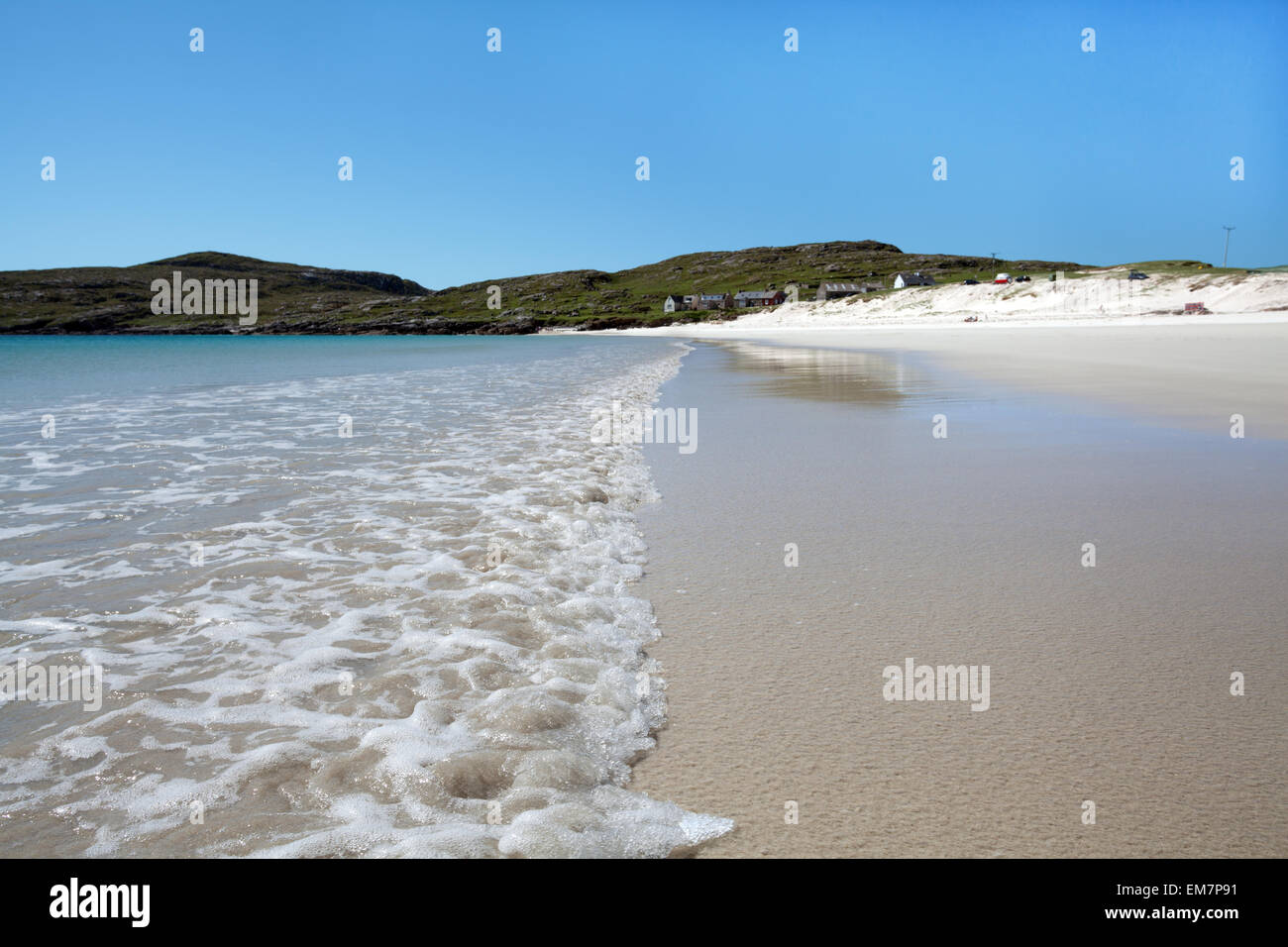 Sandy beach on the isle of Harris, Outer Hebrides, Scotland - Stock Image